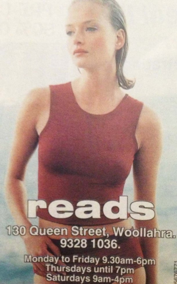 Reads of Woollahra print ad campaigns from the 80s