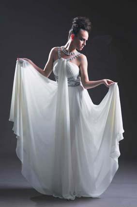 Cleopatra style prom dress