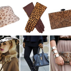 How to wear patterned accessories