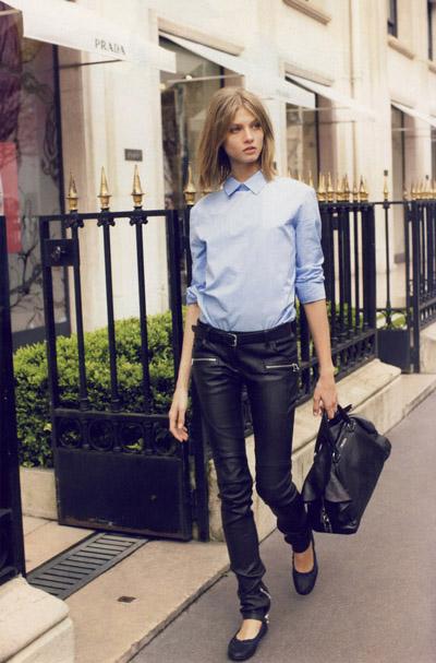 leather leg