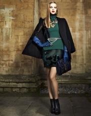 Mirte Maas in Lanvin Leather Opera Gloves. Vogue Turkey, 09.2012