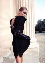 Edita Vilkeviciute in Lanvin Leather Opera Gloves. Vogue China, 10.2010.