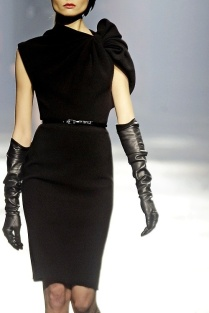 Runway classic black opera gloves